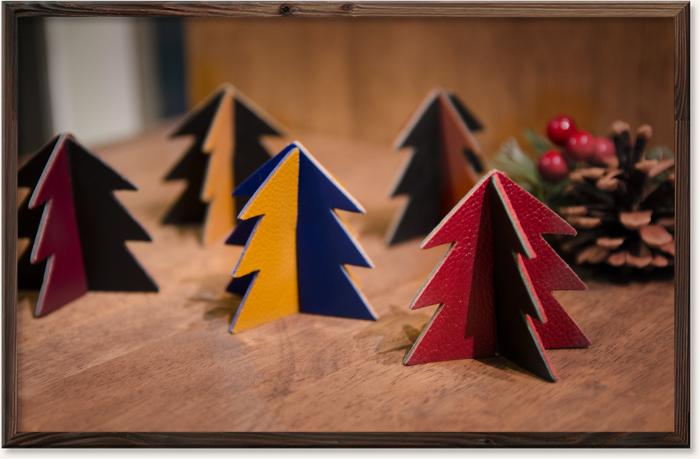 レザーのクリスマスツリー