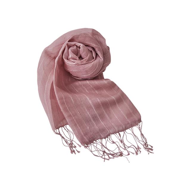 Kusakizome Silk Stripe Stole 草木染絲質條紋圍巾