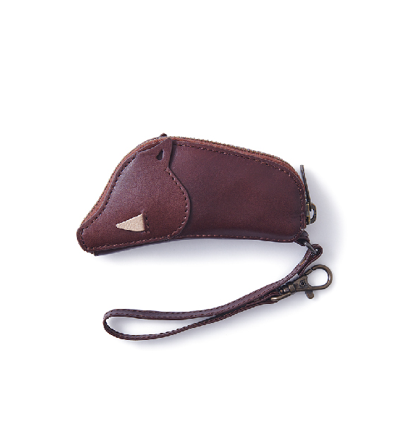Inoshishi Key Case 野豬造型皮革鑰匙包