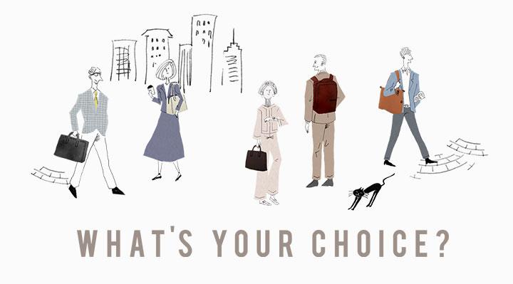 What's Your Choice?選擇最適合您的工作包!
