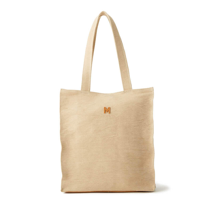 Washed Jute Simple Tote