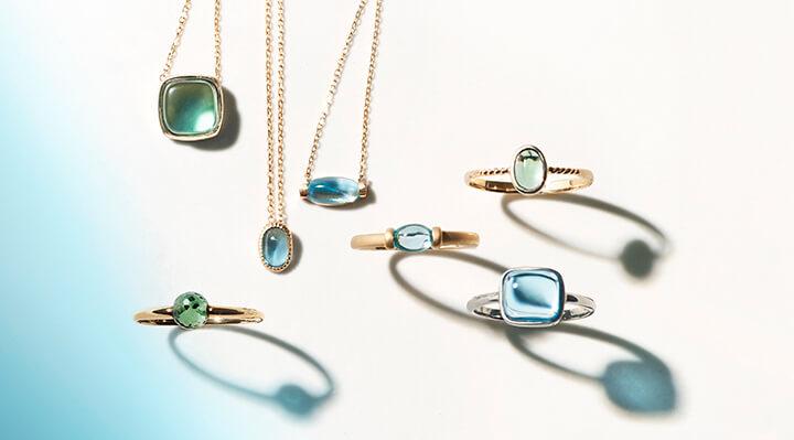 Sarara珠寶系列-清新透亮,輕拂著海洋的顏色