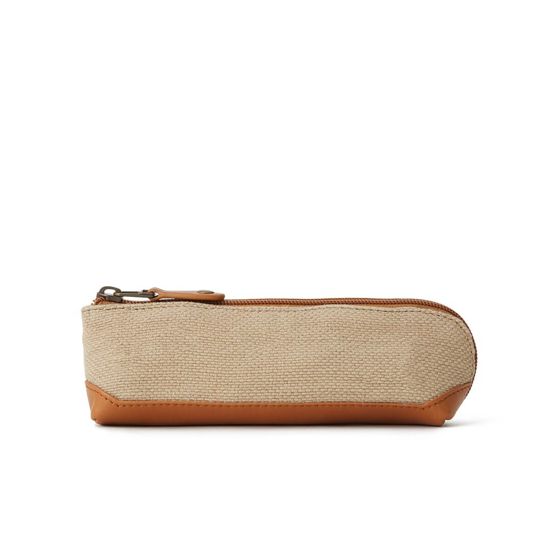 New Washed Jute Pen Case