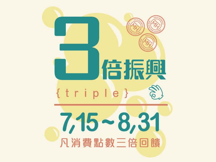 「三倍振興,三倍點數」回饋折抵也支援產地