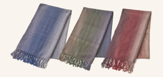 Cashmere Wool Stripe Muffler