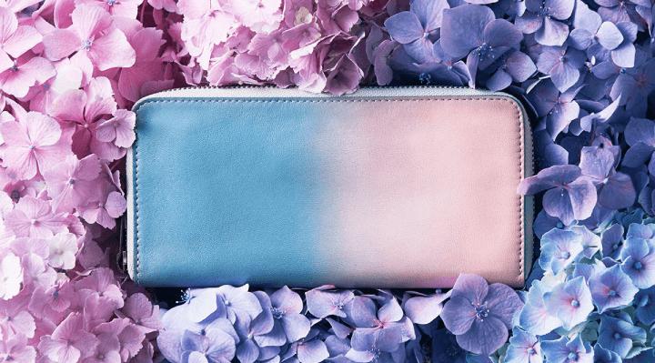 「紫陽花色」鮮豔的皮革小物,為您增添繽紛色彩